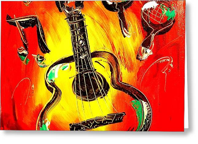 GUITAR Greeting Card by Mark Kazav