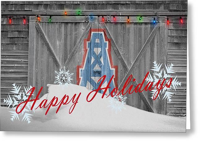 Snow Greeting Cards - Houston Oilers Greeting Card by Joe Hamilton