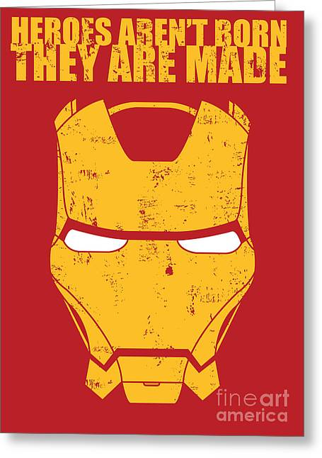 Best Sellers -  - Geometric Digital Art Greeting Cards - Iron Man Greeting Card by Caio Caldas