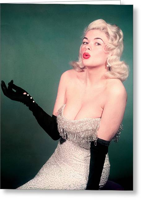 Mansfield Greeting Cards - Jayne Mansfield Greeting Card by Silver Screen