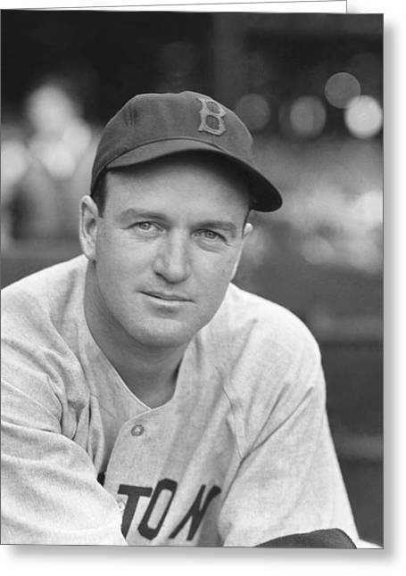 Boston Red Sox Greeting Cards - Joseph E. Joe Cronin Greeting Card by Retro Images Archive