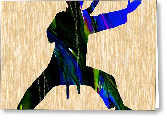 Martial Arts Greeting Cards - Martial Arts Karate Greeting Card by Marvin Blaine