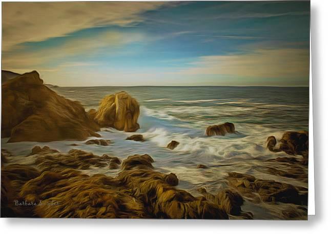 Monterey Ocean Scene Greeting Cards - 17 Mile Drive Coastline Greeting Card by Barbara Snyder