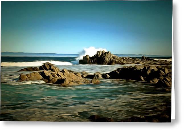 Monterey Ocean Scene Greeting Cards - 17 Mile Drive III Digital Greeting Card by Barbara Snyder