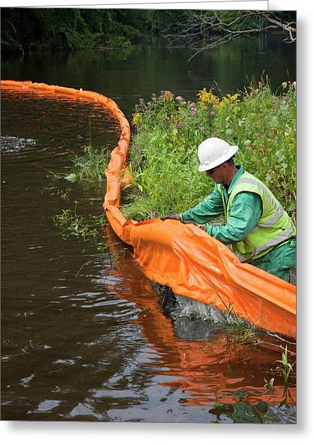 Oil Spill Cleanup Greeting Card by Jim West