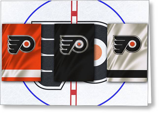Philadelphia Flyers Greeting Cards - Philadelphia Flyers Greeting Card by Joe Hamilton