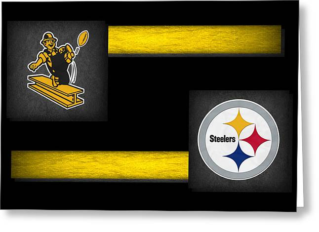 Offense Greeting Cards - Pittsburgh Steelers Greeting Card by Joe Hamilton