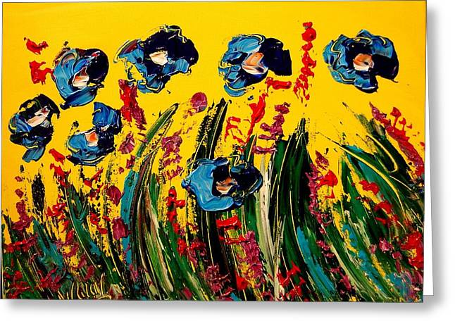 Confederate Monument Paintings Greeting Cards - Poppies Greeting Card by Mark Kazav