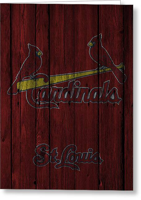 Barn Greeting Card Greeting Cards - St Louis Cardinals Greeting Card by Joe Hamilton