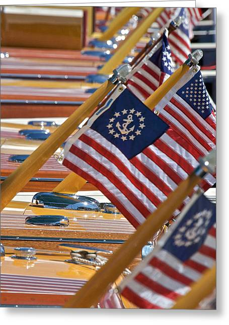 Best Sellers -  - Mahogany Red Greeting Cards - Stars and Stripes Greeting Card by Steven Lapkin