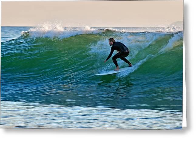 Santa Barbara Rincon Greeting Cards - Surfing Greeting Card by Elijah Weber