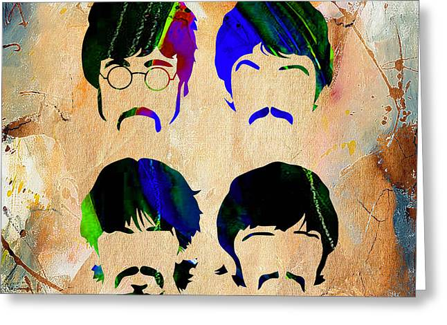Ringo Greeting Cards - The Beatles Collection Greeting Card by Marvin Blaine