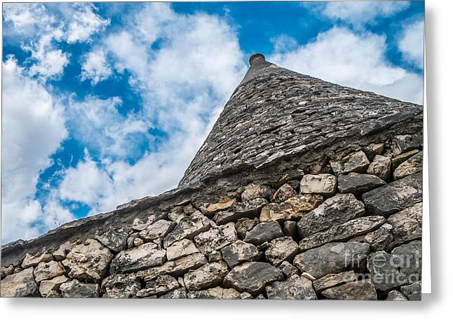 Trulli House Greeting Card by Sabino Parente