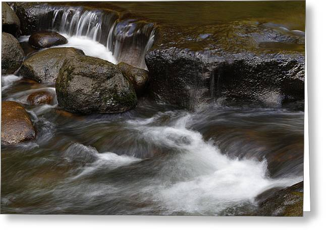 Beautiful Creek Photographs Greeting Cards - Waterfall Greeting Card by Les Cunliffe