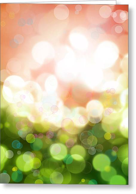 Color Green Digital Greeting Cards - Abstract background Greeting Card by Les Cunliffe
