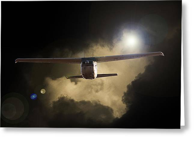 Cessna Greeting Cards - 172 Greeting Card by Paul Job