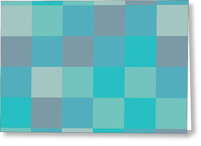 Rectangles Greeting Cards - Pixel Art Greeting Card by Mike Taylor