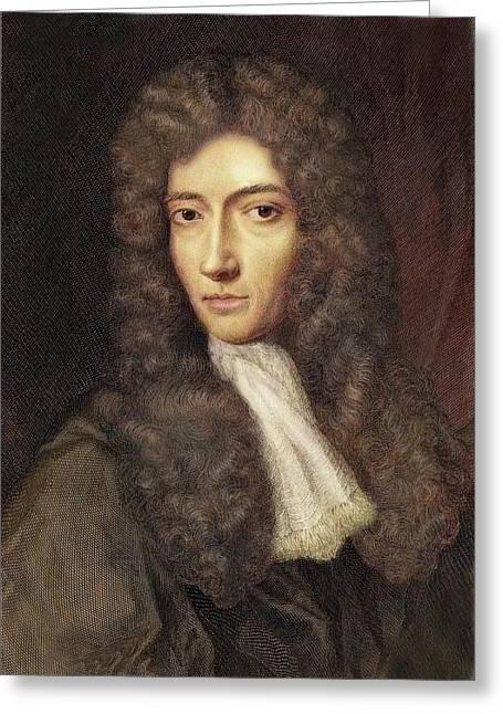 1739 Robert Boyle Portrait Colour Greeting Card by Paul D Stewart
