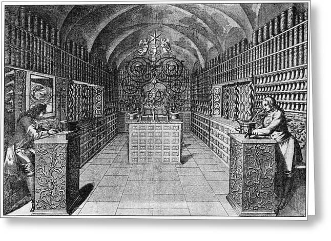 17th Century German Pharmacy Greeting Card by Cci Archives
