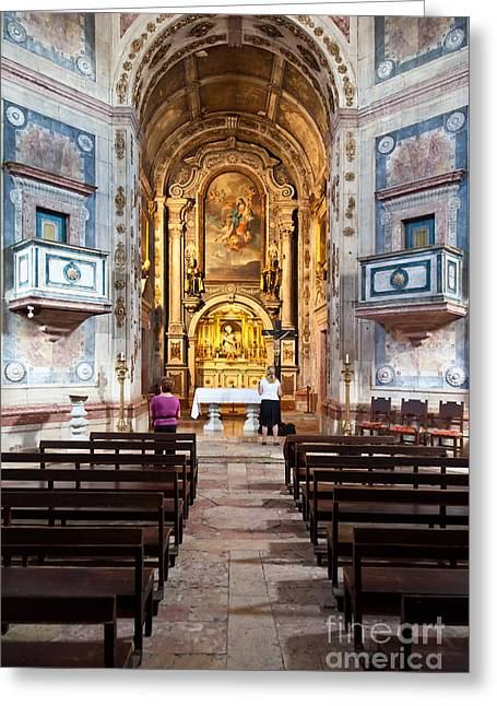 Mannerist Greeting Cards - 17th century Mannerist church Greeting Card by Jose Elias - Sofia Pereira