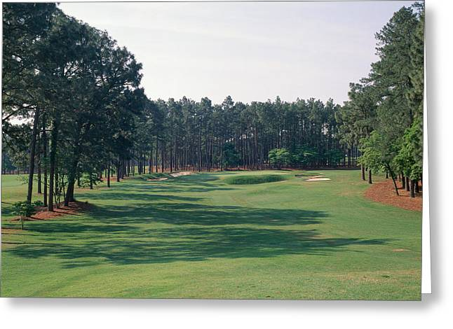 Square Image Greeting Cards - 17th Hole At Golf Course, Pinehurst Greeting Card by Panoramic Images