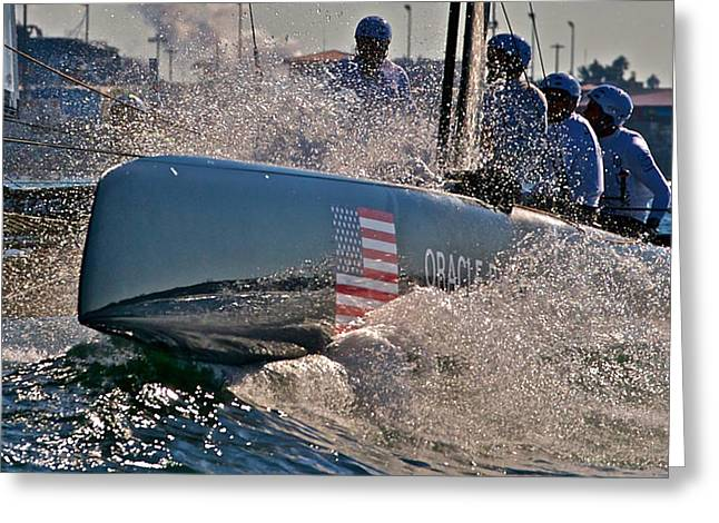 America's Cup World Series Greeting Card by Steven Lapkin