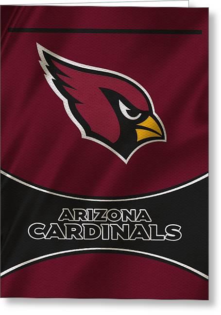 Team Greeting Cards - Arizona Cardinals Uniform Greeting Card by Joe Hamilton