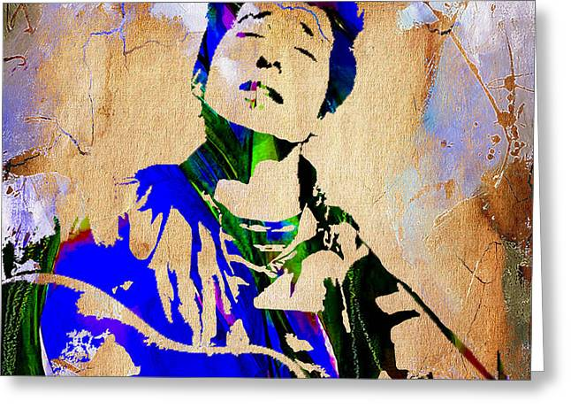 Gold Art Greeting Cards - Bob Dylan Collection Greeting Card by Marvin Blaine
