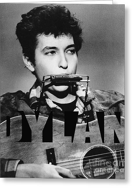 Pop Art Greeting Cards - Bob Dylan Greeting Card by Marvin Blaine