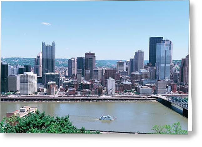 Monongahela River Greeting Cards - Buildings At The Waterfront Greeting Card by Panoramic Images