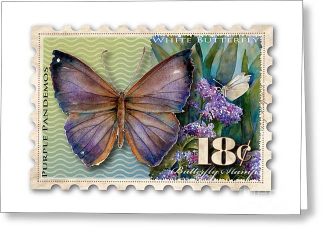 18 Cent Butterfly Stamp Greeting Card by Amy Kirkpatrick