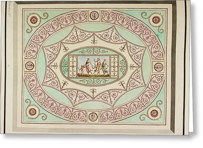 Design For A Ceiling Greeting Card by British Library