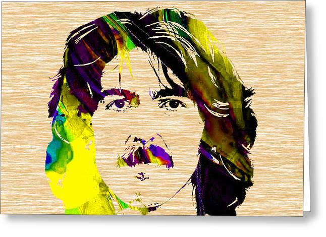George Harrison Collection Greeting Card by Marvin Blaine