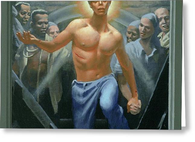 18. Jesus Rises / from The Passion of Christ - A Gay Vision Greeting Card by Douglas Blanchard