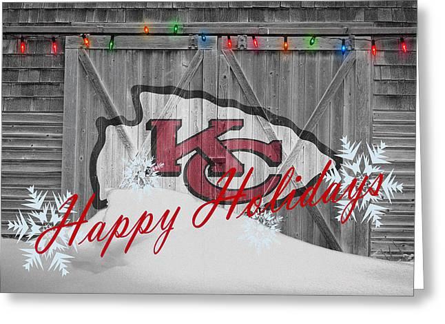 Kansas City Greeting Cards - Kansas City Chiefs Greeting Card by Joe Hamilton