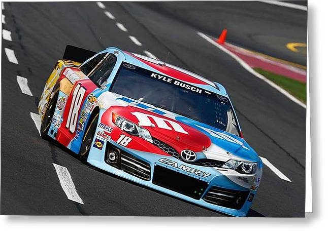 Caves Greeting Cards - #18 Kyle Busch Greeting Card by R A W M