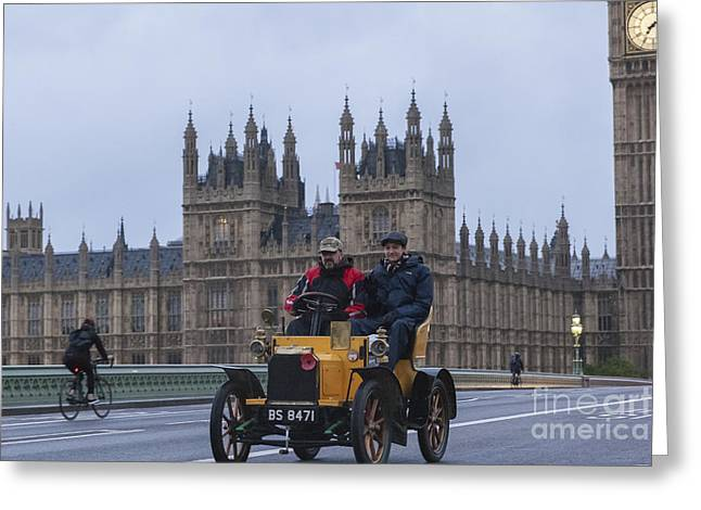 Rally Greeting Cards - London to Brighton Veteran Car Rally Greeting Card by Philip Pound