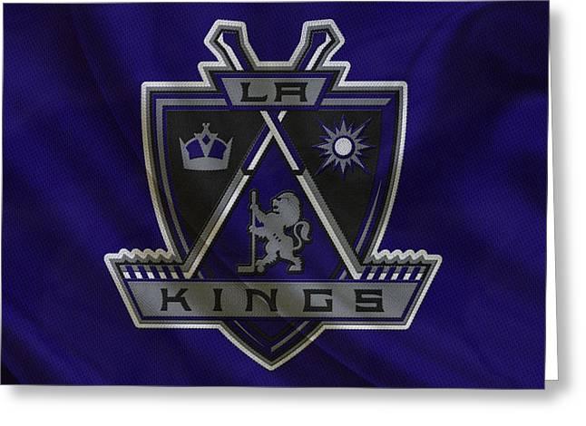 King Greeting Cards - Los Angeles Kings Greeting Card by Joe Hamilton