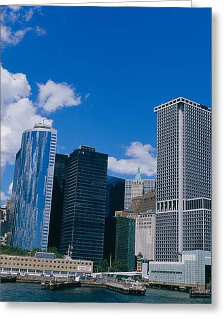 Commercial Photography Greeting Cards - Low Angle View Of Skyscrapers Greeting Card by Panoramic Images
