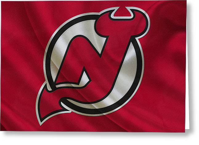 Barn Door Greeting Cards - New Jersey Devils Greeting Card by Joe Hamilton