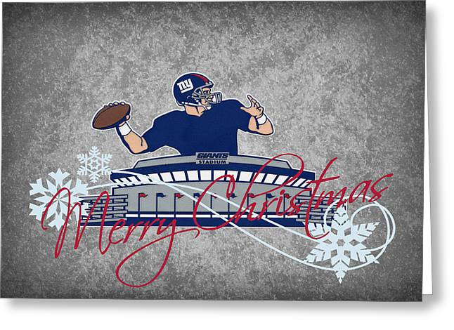 Nfl Greeting Cards - New York Giants Greeting Card by Joe Hamilton