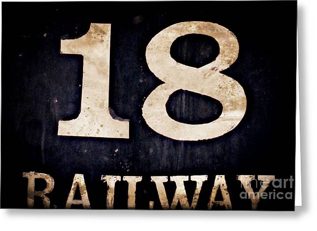 Number 18 Greeting Cards - 18 Railway Greeting Card by Valerie Reeves