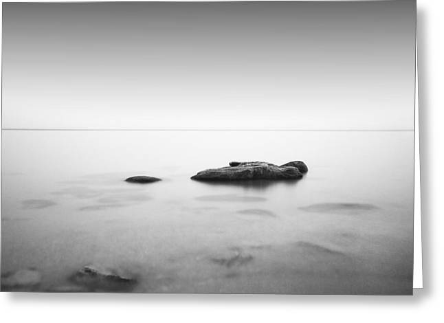 Foggy Beach Greeting Cards - Slow Water Greeting Card by Alexey Sorochan