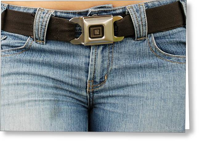 Hip Belt Greeting Cards - The G M Belt Greeting Card by Rob Hans