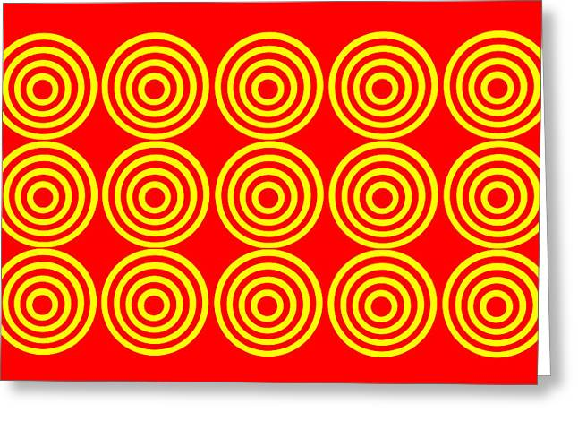 180 Circles Greeting Card by Asbjorn Lonvig