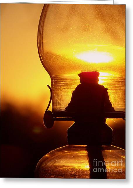 Old Western Photos Greeting Cards - 1800s Old Oil Lantern Landscape Greeting Card by Snap  Lens