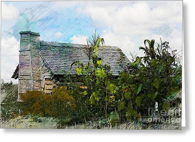 Log Cabins Greeting Cards - 1810 Living Greeting Card by Robert Pearson
