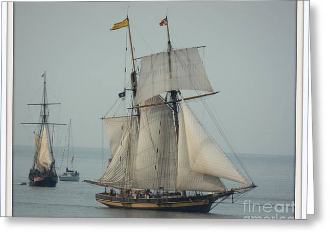 Wooden Ship Greeting Cards - 1812 Pride of Baltimore II Greeting Card by Marcia Lee Jones