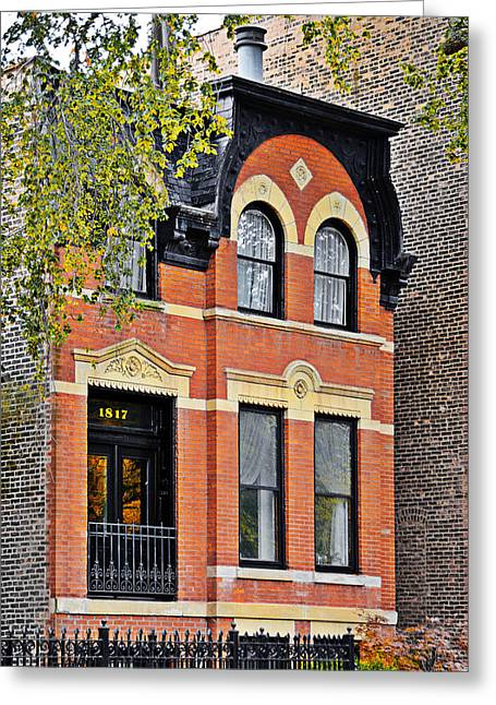 Townhouses Greeting Cards - 1817 N Orleans St Old Town Chicago Greeting Card by Christine Till