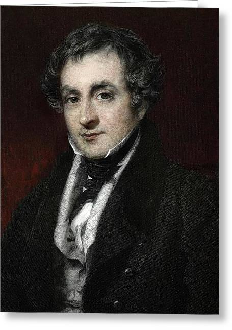 1818 William Lawrence Surgeon Atheism Greeting Card by Paul D Stewart